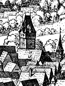Der Judenturm im Merianstich